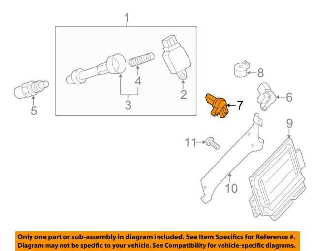 2005-2018 Nissan Pathfinder Nv1500 Crankshaft Position Sensor OEM Genuine
