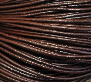 5-Metri-Cordino-Cuoio-Autentico-2mm-Marrone-Scuro-CC2-08-Pelli-Lacci-Liscio