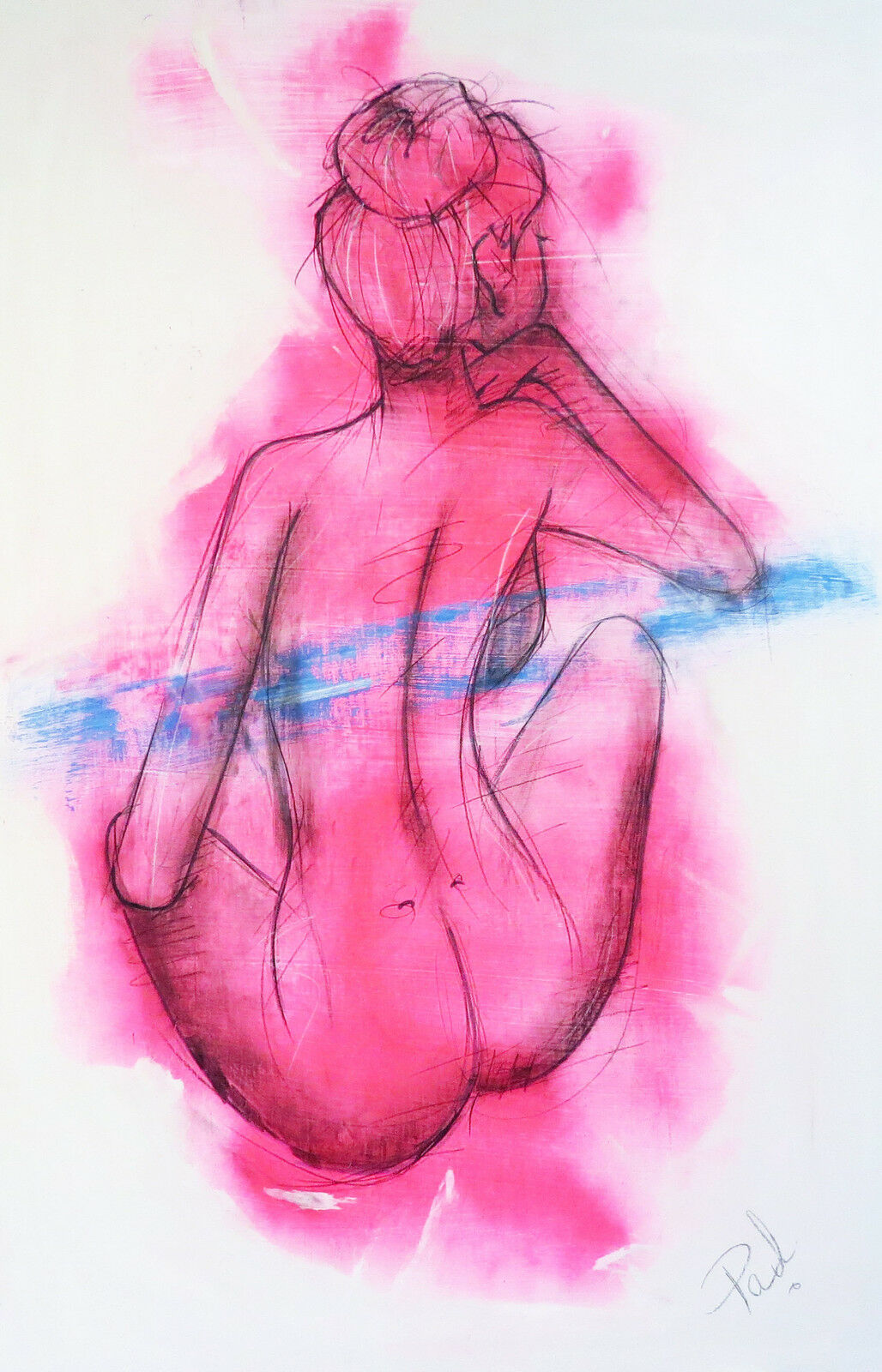 Nude abstract body body body girl woman Rosa street art print authentic COA by Andy Baker 5bfb5b