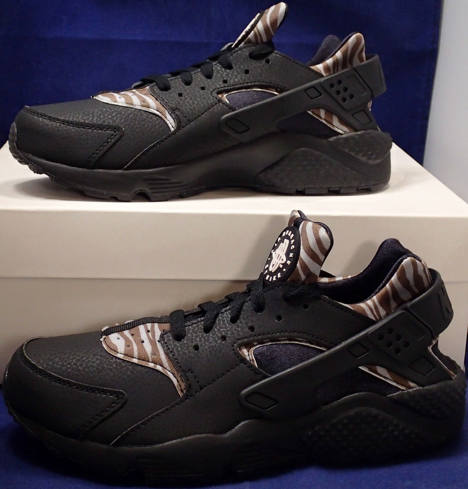 Nike Air Huarache Run iD Zebra Stripes Black Brown Price reduction New shoes for men and women, limited time discount