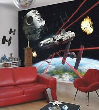 Giant Wallpaper 368x254cm Star Wars Kids Boys Teenagers Room Wall Mural Falcon For Sale Online Ebay