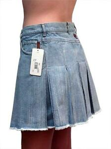 Ladies-Ripcurl-pleated-denim-skirt-size-10-NEW-Vintage-Rip-Curl