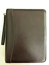 Franklin Covey High Quality Leather 7 Ring 15in Ring Brown Binder Planner