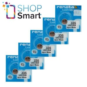 5 RENATA 335 SR512SW BATTERIES SILVER 1.55V WATCH BATTERY EXP 2022 NEW