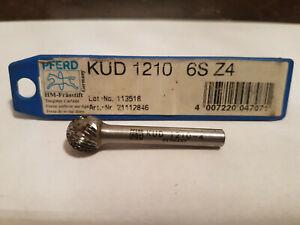 PFERD-HM-Fraesstift-KUD-1210-6S-Z4-6mm-12x10mm-NEU-kugelfoermig-21112846