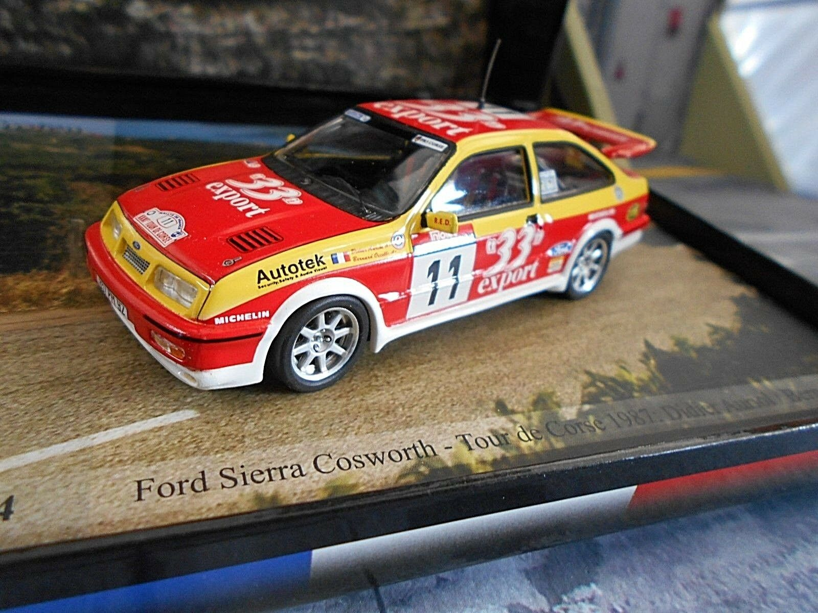FORD Sierra RS Cosworth Rally Tour de Corse 1987  11 Auriol 33 EXP Trofeu 1 43