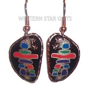 Inukshuk Solid Copper Earrings Handmade Jewelry Inuit Native Inspired Eskimo New