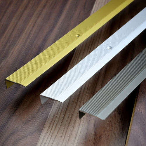 100cm 35mm x 15mm PROFILI PER GRADINI alluminio scalino barra antiscivolo 1m