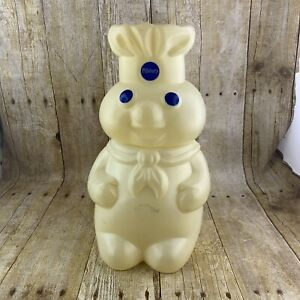 Pillsbury-Doughboy-Plastic-Cookie-Jar-Canister-Vintage-90s-1998-FLAW