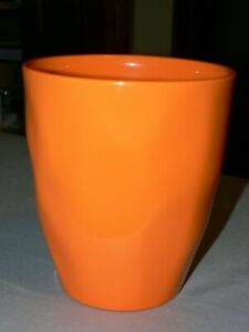 Ceramic-GCG-Flower-Pot-Planter-Pumpkin-Orange-Made-in-Germany-5-034-x5-3-4-034-NEW