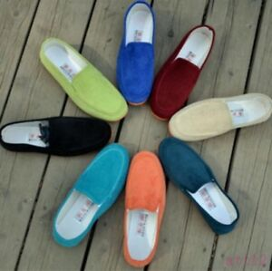 Hot-Mens-Casual-Shoes-Multi-Colors-Slip-On-Flat-Loafer-Driving-Moccasins-Comfort