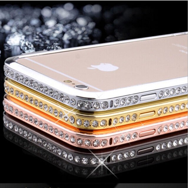 Crystal Rhinestone Diamond Bling Metal Bumper Case for iPhone 5S SE/6 6S & Plus