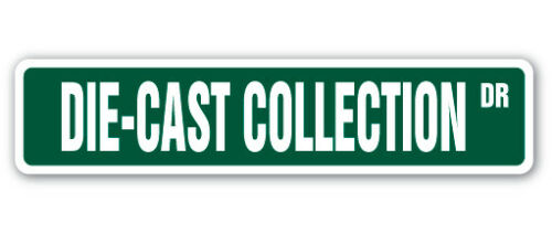 DIE-CAST COLLECTION Street Sign cars vehicles matchbox trucks collector