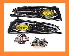 13-15 HONDA CIVIC SEDAN 4DR BUMPER FOG LIGHT LAMPS KIT YELLOW+WIRING+SWITCH-PAIR