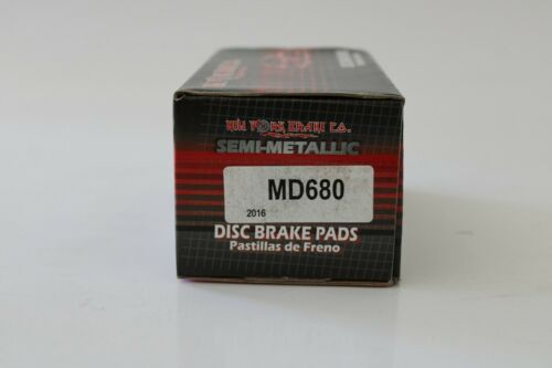 Brake MD680 Disc Brake Pad Set-SEMI METALLIC PADS Front New York Brake CO