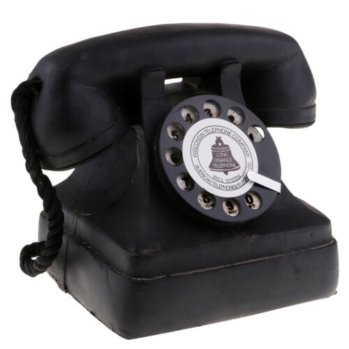 Vintage Antique Rotary Handset Desk Telephone Retro Dial Phone Gift 711113