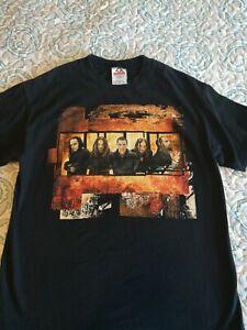 Vintage-Black-100-Cotton-Korn-Rock-T-shirt-Size-Medium