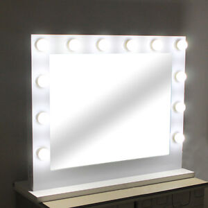 Image Is Loading Large Hollywood Makeup Tabletop Mirror Vanity Mirror With
