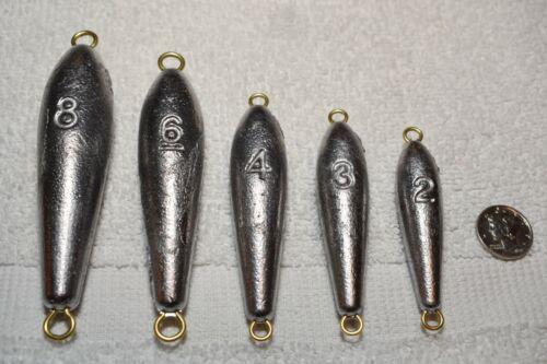 10 Sinkers Free Shipping Trolling 8 oz Torpedo Lead Weights