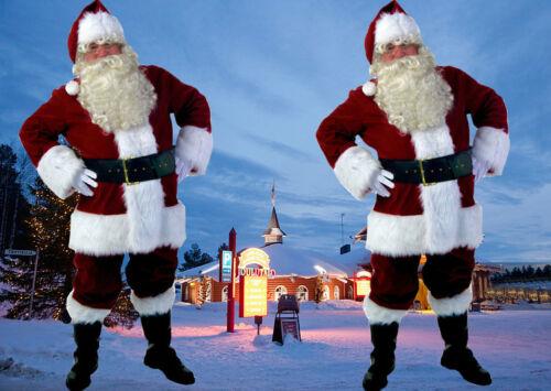 Adult Velvet Santa Claus Costume Suit XMAS Christmas Cosplay Apparel Suit Men US