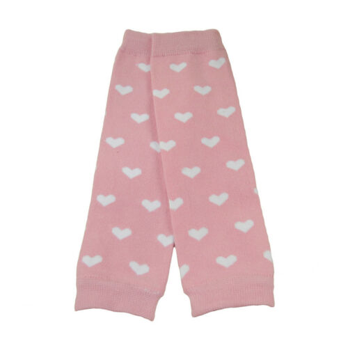 Adorable Baby Toddler Kid Girl Pink Hearts Socks Tights Arm Leg Warmers