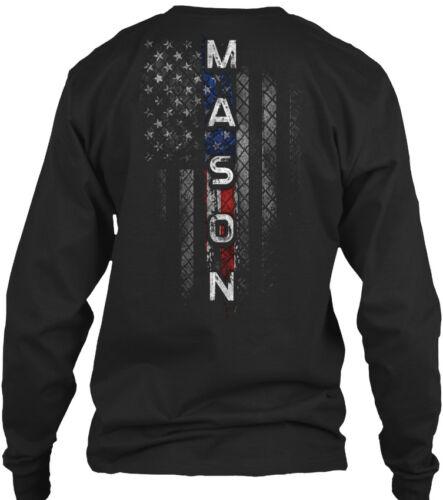Mason Family American Flag Gildan Long Sleeve Tee T-Shirt