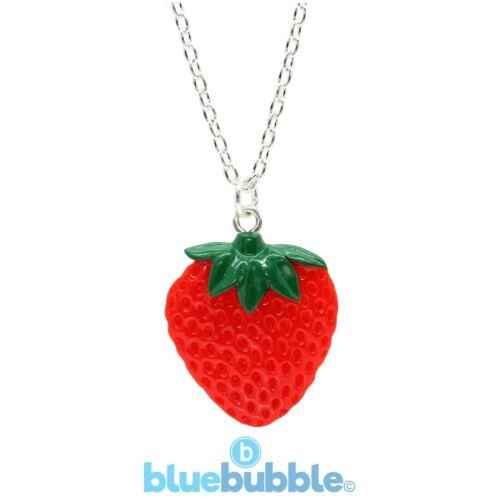 Bluebubble mi dulce tienda grandes Collar De Fresa Kawaii Fruta Retro 80s Candy