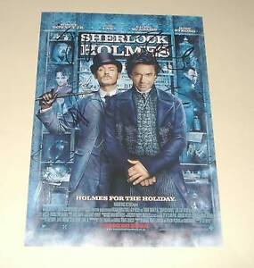 SHERLOCK-HOLMES-CAST-X3-PP-SIGNED-POSTER-12-034-X8-034-DOWNEY