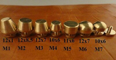 5PCS Leather Craft Belt Wallet Solid Brass Nail Rivets Chicago Screws  Creative