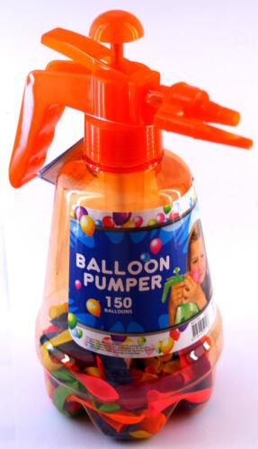 Wasserbomben Pumpe incl BALLOON PUMPER 150 Ballons Wasserballons ORANGE