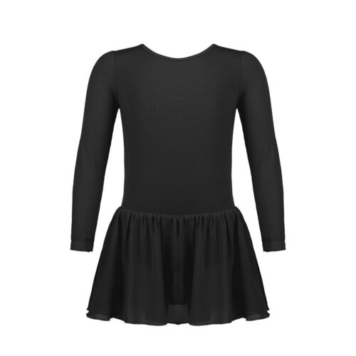Girls Ballet Dress Kids Leotard Gymnastics Chiffon Dancewear Tutu Skirt Costume