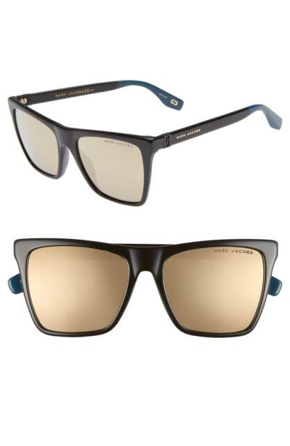 8d8235da62 Marc Jacobs Marc 349 S 2M2UE Sunglasses Black Frame Gold Mirror Lenses 54mm