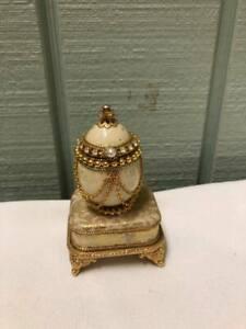 Quail Egg Flip Top Musical Jewelry Box Kingspoint Designs 40449