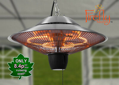 Ceiling Mounted Electric Halogen Patio Heater Infra Red