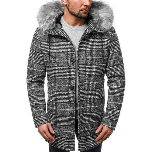 Veste d/'hiver coat hiver manteau col montant Manteau Veste thermique OZONEE o//88871 Hommes