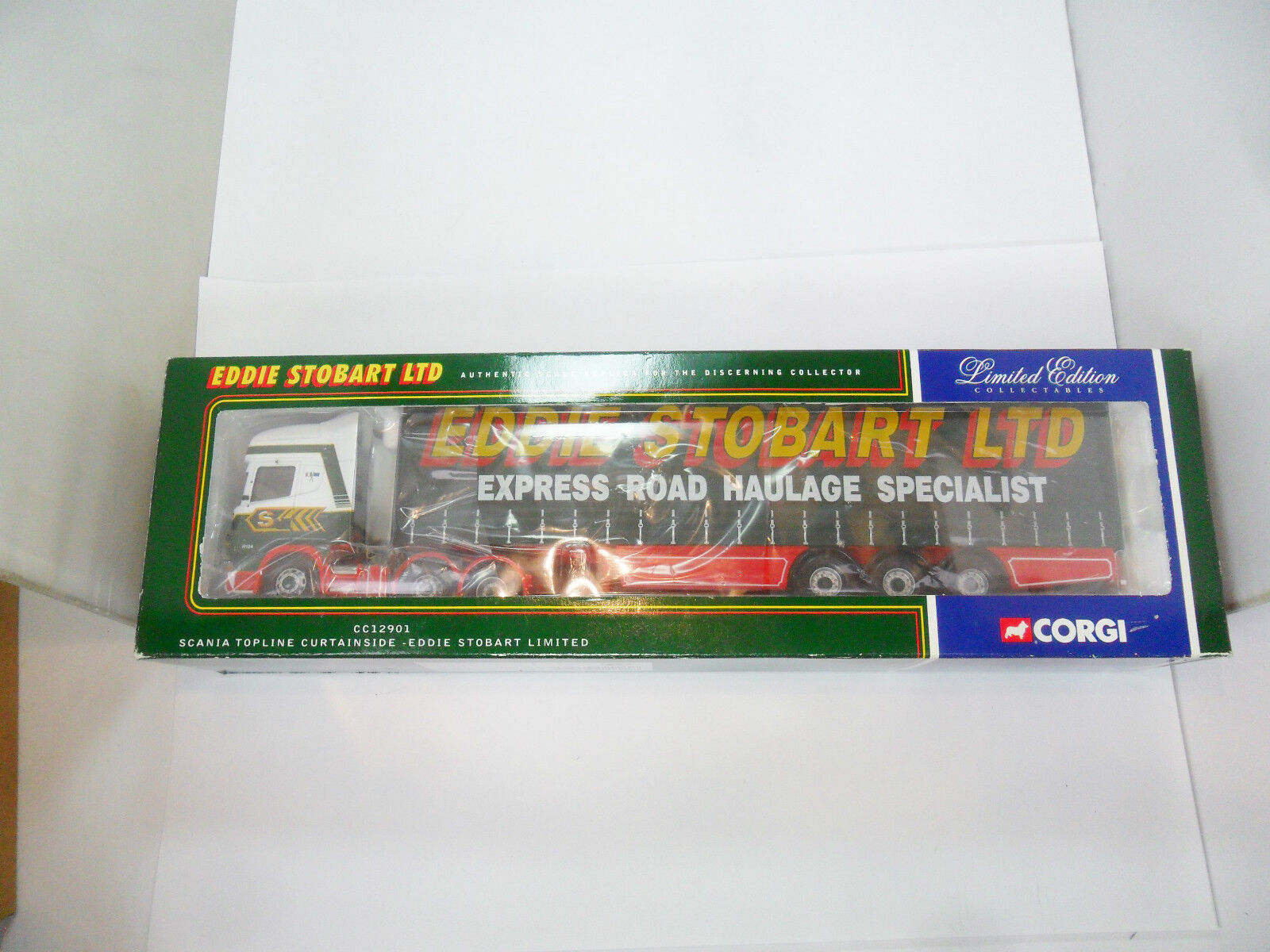 CORGI CC12901 SCANIA TOPLINE CURTAINSIDE  EDDIE STOBART LTD