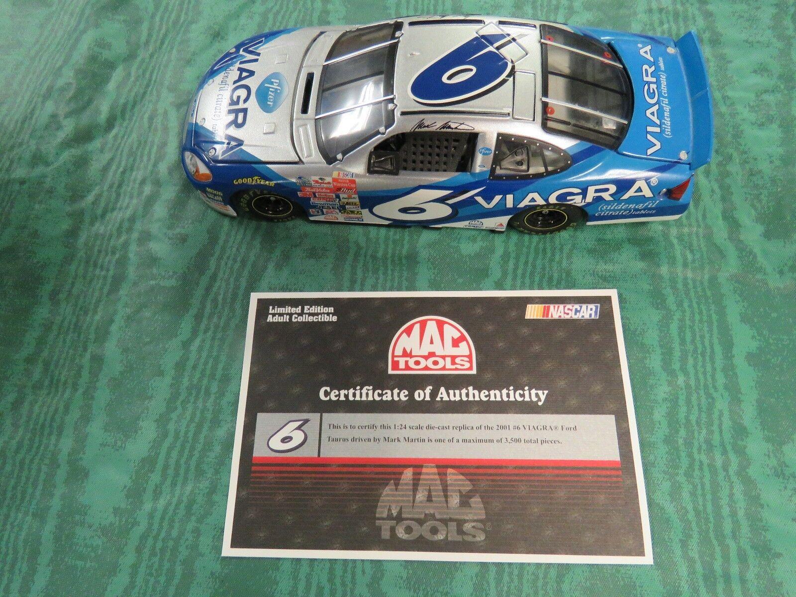 NASCAR 1 24 DIECAST,MARK MARTIN,FORD TAURUS,MAC TOOLS,LIMITED EDITION