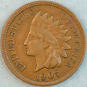 1907-Indian-Head-Cent-Vintage-Penny-Old-US-Coin-LIBERTY-Full-Rims-Fast-S-amp-H-76709