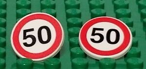 LEGO-2-speed-limit-50-signs-for-Minifigures-Roads-Cars