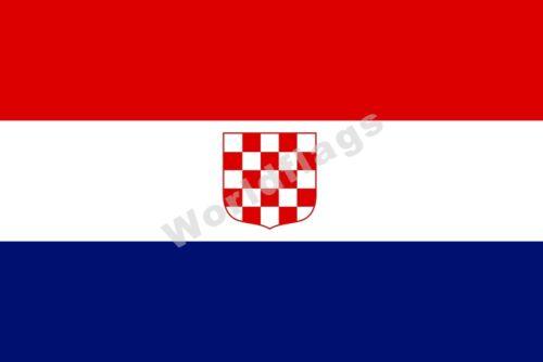 Croatia Drapeau 3X5FT historique National Croatia-Slavonie COA Kingdom banate