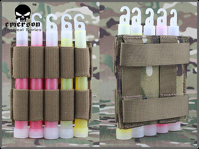 EMERSON Tactical Military Light Stick pouch Molle with Meshbelt Military EM6033