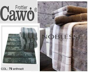 CAWO-NOBLESSE-2-SERVIETTE-DE-TOILETTE-DOUCHE-POUR-INVITE-S-ANTHRACITE-GRAPHITE