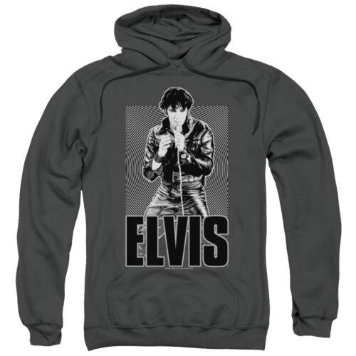 Elvis Presley Hoodie Leather Jacket Charcoal Hoody