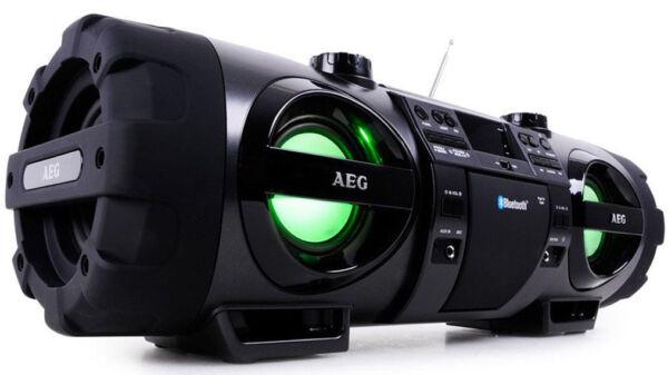 aeg sr 4360 bt radio tuner cd player tragbare stereoanlage ebay. Black Bedroom Furniture Sets. Home Design Ideas