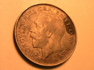 1921-UK-Great-Britain-Shilling-Ch-VF-XF-Original-Light-Grey-British-Silver-Coin