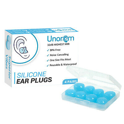 UNOREM Sleeping Earplugs 32dB Noise Blocking Ear Plugs for Multiple Usages