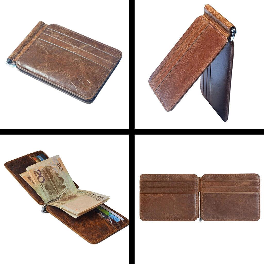 Herren Geldbörse mit Geldscheinklammer Slim Kreditkartenetui Bargeldetui