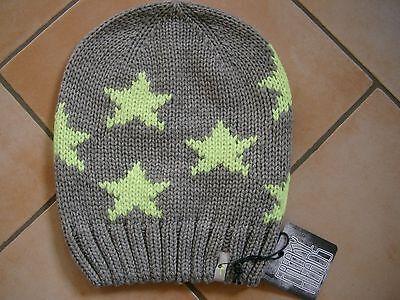 (m27) Grezzo A Maglia Berretto Freaky Testa Beanie Inverno Cappello Little Stars + Flag Logo-mostra Il Titolo Originale