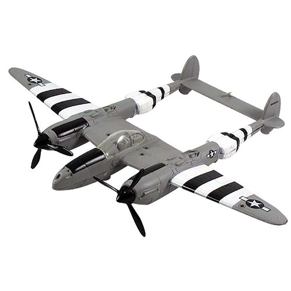 Gifts For Aviators P-38 Lightning Die Cast Model Aircraft - Scale 1 48