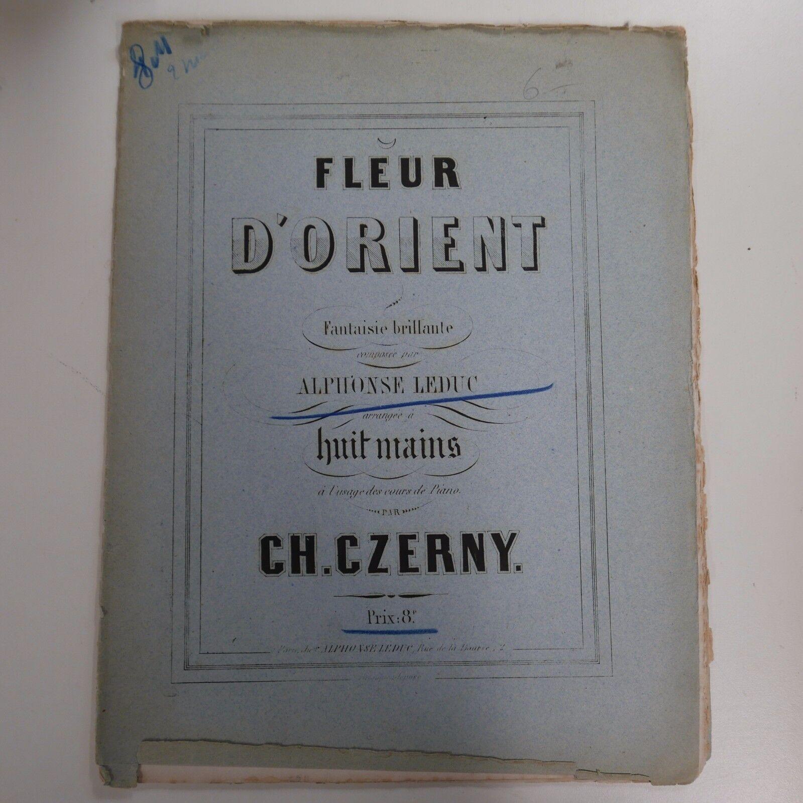 2 pianos 8 hands ALPHONSE LEDUC fleur d`orient , arr czerny , antique circa 1857